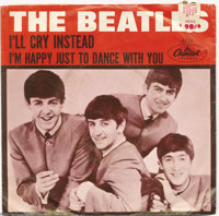 "Beatles ""I'm Happy Just to Dance With You/I'll Cry Instead"" Picture Sleeve 45 Capitol 5234 Mono (1964). Anothe..."
