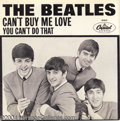 "Music Memorabilia:Recordings, Beatles ""Can't Buy Me Love""/""You Can't Do That"" Picture Sleeve 45Capitol 5150 Mono (1964)...."