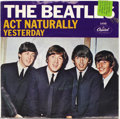 "Music Memorabilia:Recordings, Beatles ""Yesterday""/""Act Naturally"" Picture Sleeve 45 Capitol 5498Mono (1965)...."