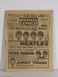 Music Memorabilia:Miscellaneous, Beatles - New Music Express Tabloid (3/20/1964)....
