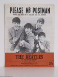 "Music Memorabilia:Miscellaneous, Beatles - ""Please Mister Postman"" Sheet Music...."