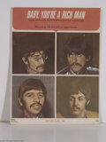 "Music Memorabilia:Miscellaneous, Beatles ""Baby, You're a Rich Man"" Sheet Music...."
