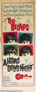 Music Memorabilia:Posters, Hard Day's Night (United Artists, 1964)....