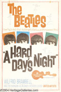 Music Memorabilia:Posters, Hard Day's Night, A (United Artists, 1964)....