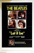 "Music Memorabilia:Posters, Beatles - ""Let It Be"" One-Sheet Movie Poster (1970)...."