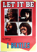 "Music Memorabilia:Posters, Beatles - ""Let It Be"" Italian One-Sheet Movie Poster (1970)...."