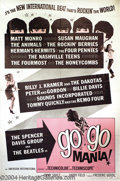 Music Memorabilia:Posters, Go Go Mania! One-Sheet Poster (American International, 1965)....