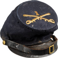 """Civil War """"McDowell"""" Pattern Forage Cap, Promotion Certificate & Hand-Drawn Map"""