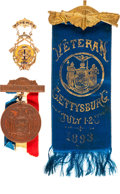 """Miscellaneous:Ephemera, """"New York Day"""" at Gettysburg: Reunion Badges and More.. ..."""