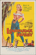 """Movie Posters:Bad Girl, Louisiana Hussy (Howco, 1959). Folded, Fine/Very Fine. One Sheet (27"""" X 41""""). Bad Girl. From the Collection of Frank Buxto..."""