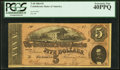 Confederate Notes:1864 Issues, T69 $5 1864 PF-5 Cr. 560 PCGS Extremely Fine 40PPQ.. ...
