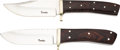 Edged Weapons:Knives, Lot of Two (2) Custom Knives by Jon J. Tsoulas.. ... (Total: 2 Items)