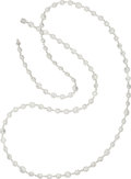 Estate Jewelry:Necklaces, Diamond, White Gold Necklace . ...