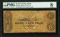 Obsoletes By State:North Carolina, Wilmington, NC- Bank of Cape Fear at Salem Branch $6 circa 1850s G405b PMG Very Good 8.. ...