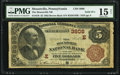National Bank Notes:Pennsylvania, Solid Serial Number 5555 Mountville, PA - $5 1882 Brown Back Fr. 470 The Mountville National Bank Ch. # (E)3808 PMG Ch...