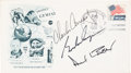 Explorers:Space Exploration, Gemini 5 Crew-Signed Launch Cover, also Signed by Alan Bean. ...
