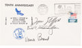 Explorers:Space Exploration, Mercury-Redstone 4 (Liberty Bell 7) 10th Anniversary Cover, Signed by the Apollo-Soyuz Ameri...