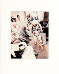 Explorers:Space Exploration, Gemini 5: Large Vintage Chromogenic Color Photo of Charles Conrad & Gordon Cooper in Full Spacesuits Walking Toward the Space...