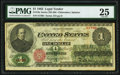 Large Size:Legal Tender Notes, Fr. 16c $1 1862 Legal Tender PMG Very Fine 25.. ...