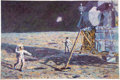 "Explorers:Space Exploration, Alan Bean Signed Limited Edition ""Lone Star"" Textured Giclée Canvas, #160/250. ..."