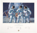 """Explorers:Space Exploration, Alan Bean Signed Limited Edition """"Conrad, Gordon, and Bean: The Fantasy"""" Print, also Signed by Charles Conrad and Richard Gor..."""