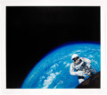 """Explorers:Space Exploration, Gemini 4: Chris Calle Signed Limited Signature Edition, #17/50, """"Gemini 4 - Spacewalk"""" Canvas Giclée Print, also Signed by..."""