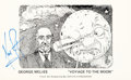 "Explorers:Space Exploration, Neil Armstrong Signed George Méliès ""Voyage To The Moon"" Postcard. ..."