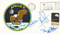 """Explorers:Space Exploration, Apollo 11 Crew-Signed """"Type Three"""" Insurance Cover with Mission Insignia Cachet. ..."""