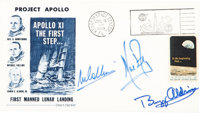 "Apollo 11 Crew-Signed ""Type Two"" Insurance Cover with Dow-Unicover Cachet"