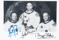 Explorers:Space Exploration, Apollo 11 Crew-Signed White Spacesuit Photo. ...