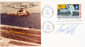 "Explorers:Space Exploration, Apollo 11 Crew-Signed Photo on ""First Man on the Moon"" First Day Cover. ..."