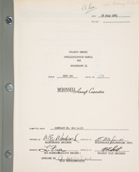 "McDonnell ""NASA Project Gemini Familiarization Manual For Spacecraft #1"" Book, SEDR 300, Serial Number 113..."
