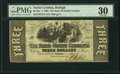 Obsoletes By State:North Carolina, Raleigh, NC- State of North Carolina $3 Jan. 1, 1863 Cr. 127A PMG Very Fine 30.. ...