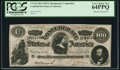 """Confederate Notes:1864 Issues, CT65/490 $100 1864 """"Havana"""" Counterfeit PCGS Very Choice New 64PPQ.. ..."""