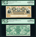 Argentina Banco Nacional 40 Centavos Fuertes 1.8.1873 Pick S646p Face and Back Proofs PCGS New 62PPQ; Very Choice New 64...