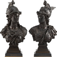 Auguste Louis Moreau (French, 1855-1919) Minerva and Achilles, early 20th century Bronze 19-1/4