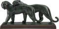 Sculpture, André Vincent Becquerel (French, 1893-1981). Two Panthers, circa 1930. Patinated bronze. 14-1/2 x 27-3/4 x 7-3/4 inches ...