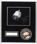 Explorers:Space Exploration, James Lovell Signed (With Added Quote) Apollo 13 Damaged Service Module Photo in Framed Display with Mission Insignia Patch, ...