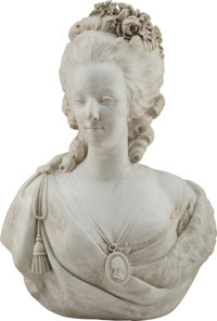 A Marble Bust of Marie Antoinette 27 x 19-1/2 x 12 inches (68.6 x 49.5 x 30.5 cm)