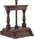Furniture, An Anglo-Dutch Carved Oak Book Press, early 18th century . 21-1/2 x 16-1/4 x 17-1/4 inches (54.6 x 41.3 x 43.8 cm). PROPER...