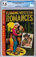 Golden Age (1938-1955):Western, Flaming Western Romances #3 (Star Publications, 1950) CGC VF- 7.5 Cream to off-white pages....