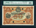 World Currency, China Hongkong & Shanghai Banking Corporation, Peking 50 Dollars 1.1.1922 Pick S342s S/M#Y13 Specimen PMG Choice About Unc...