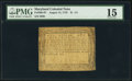 Colonial Notes:Maryland, Maryland August 14, 1776 $1 1/3 PMG Choice Fine 15.. ...