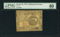 Colonial Notes:Continental Congress Issues, Continental Currency July 22, 1776 $4 PMG Extremely Fine 40.. ...