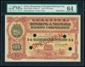 World Currency, China Hongkong & Shanghai Banking Corporation, Peking 100 Dollars 1.1.1922 Pick S343s S/M#Y13 Specimen PMG Choice Uncircul...