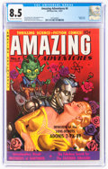Golden Age (1938-1955):Science Fiction, Amazing Adventures #4 (Ziff-Davis, 1951) CGC VF+ 8.5 Off-white to white pages....