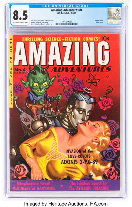 Amazing Adventures #4 (Ziff-Davis, 1951) CGC VF+ 8.5 Off-white to white pages....