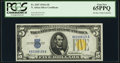 Fr. 2307 $5 1934A North Africa Silver Certificate. PCGS Gem New 65PPQ