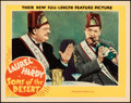 "Movie Posters:Comedy, Sons of the Desert (MGM, 1933). Near Mint. Lobby Card (11"" X 14"").. ..."