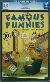 Famous Funnies #30 (Eastern Color, 1937) CGC VG- 3.5 Light tan to off-white pages